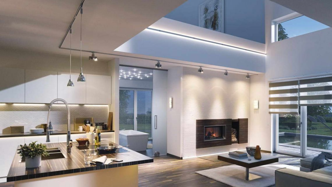 Трековые системы освещения в жилых интерьерах