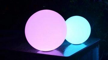 Светящиеся шары и кубы